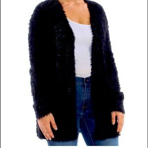 Free People Faux Fur Cardigan
